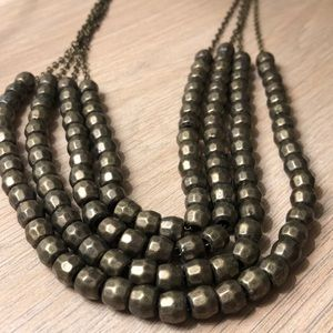 Vintage Layered Beaded Necklace